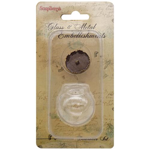 SCB24001010 Набор стеклянный кулон-шар 30мм