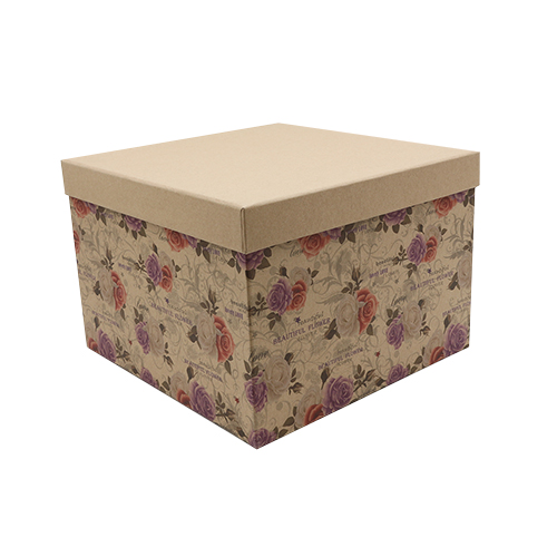 HY007022626 Подарочная коробка 'Крафт розы', 26,5*26,5*18,5см