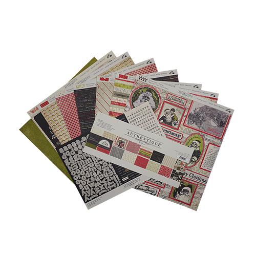 JOY011 Набор бумаги стикеров 'Authentique Joyous' 30*30 см 12 листов 2 листа