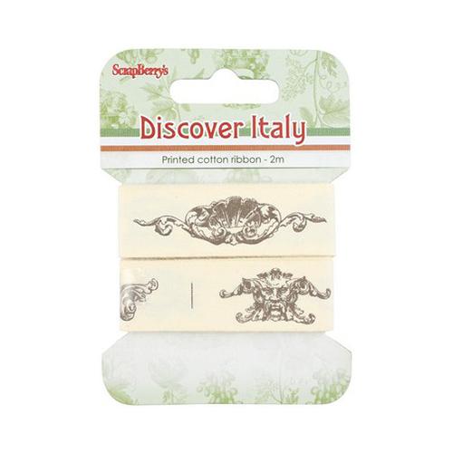 SCB390414 Лента декоративная 'Итальянские каникулы', 20мм, 2м, хлопок