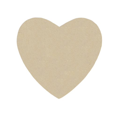 SCB271059 Заготовка из папье-маше Подставка под чашку 'Сердце', 10x10см, 10шт