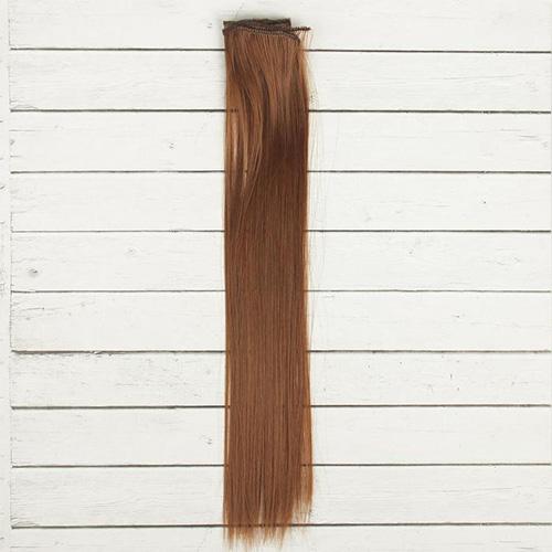 2294385 Волосы - тресс для кукол 'Прямые' длина волос 40 см, ширина 50 см