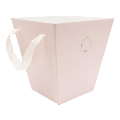 2878109 Коробка трапеция «Нежность розового», микрогофра, 23,6 х 24,5 х 15 см