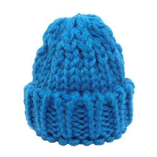 26666 Шапка для игрушек вязаная 8см, обхват гол.11-16см, 100% акрил, цв. синий