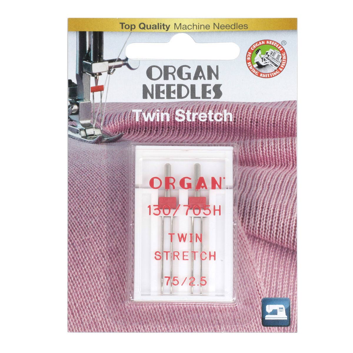 ORGAN иглы двойные 2-75/2,5 супер стрейч Blister