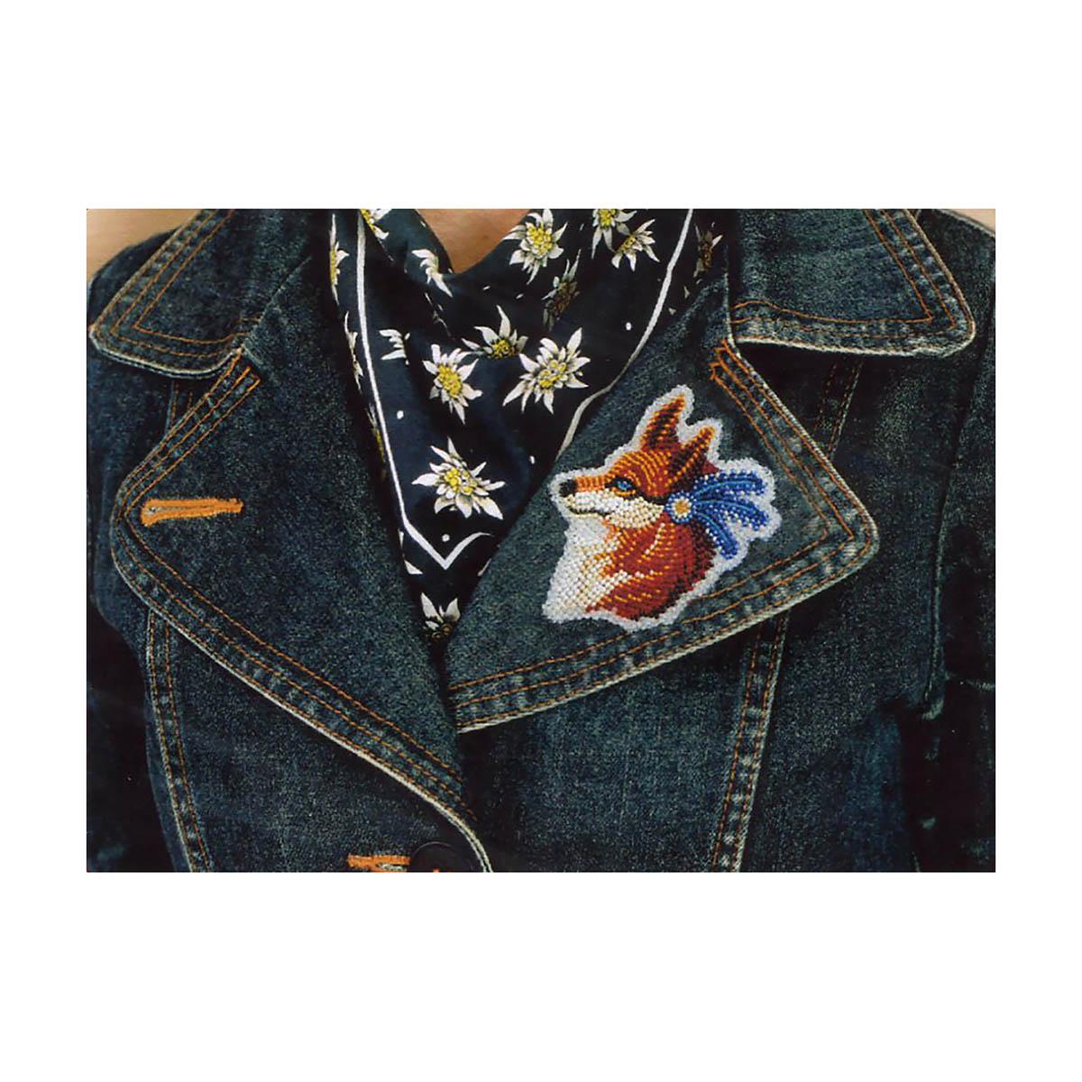 АД-106 Набор для вышивки бисером украшения на натуральном художественном холсте Паттернхолст 'Лисичка'8*10,5см