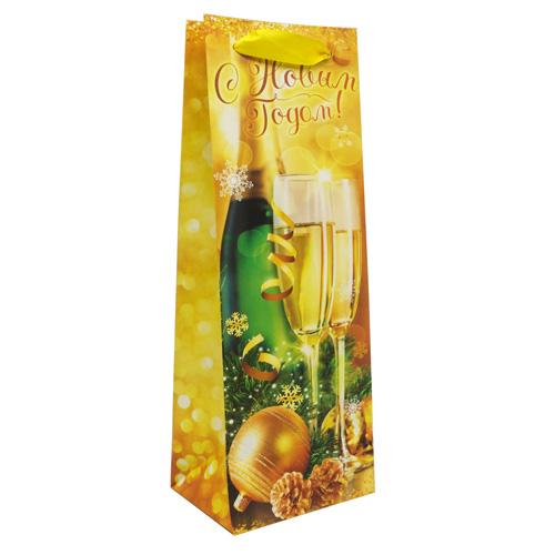 2276173 Пакет ламинированный под бутылку «Исполнения желаний!», 10,5x 36x 9