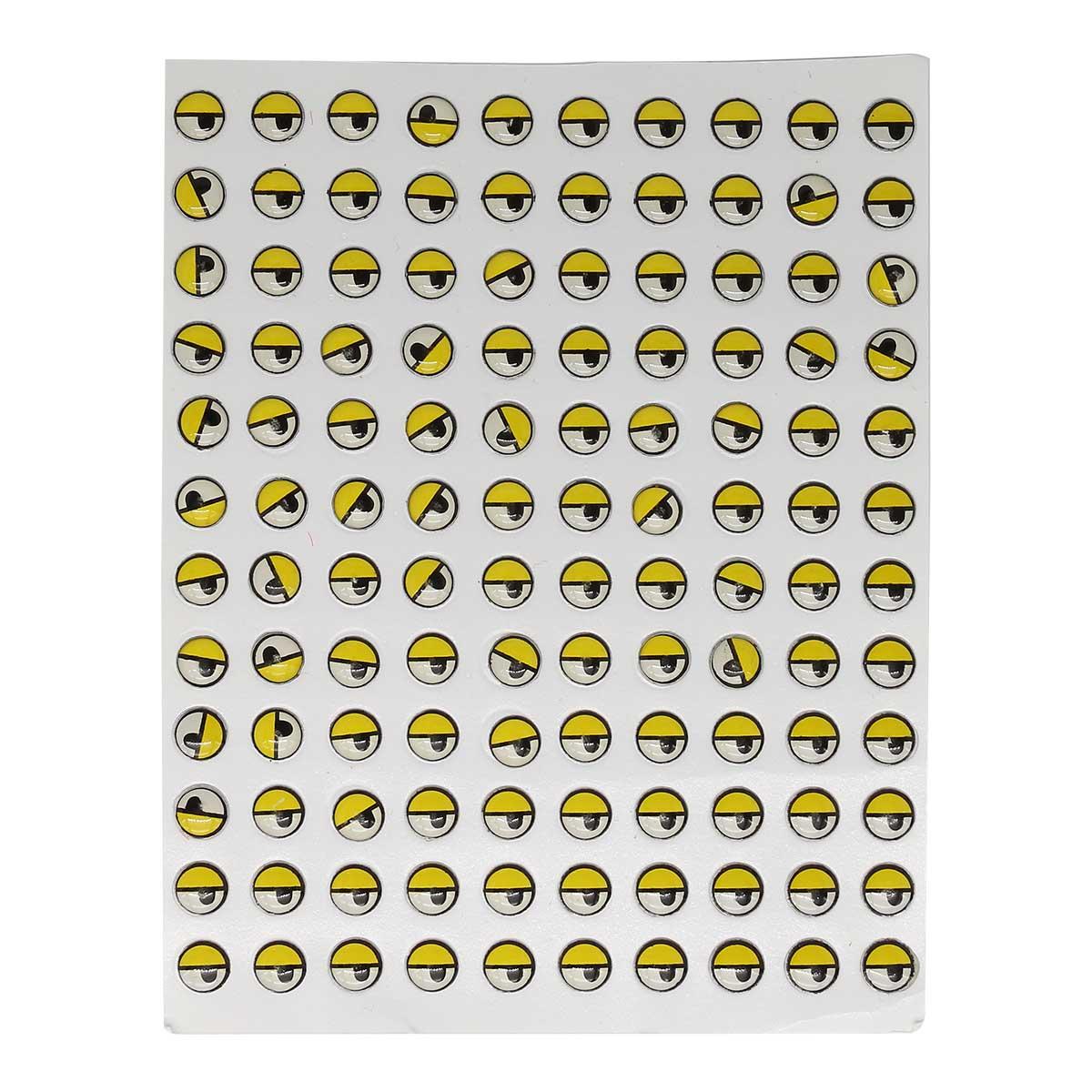 20762 Глаза на клеевой основе 7-12101, 7мм уп/120 шт