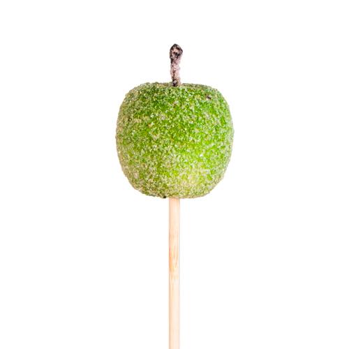 55119 Яблоко на вставке засахаренное 4.5х50см зеленое