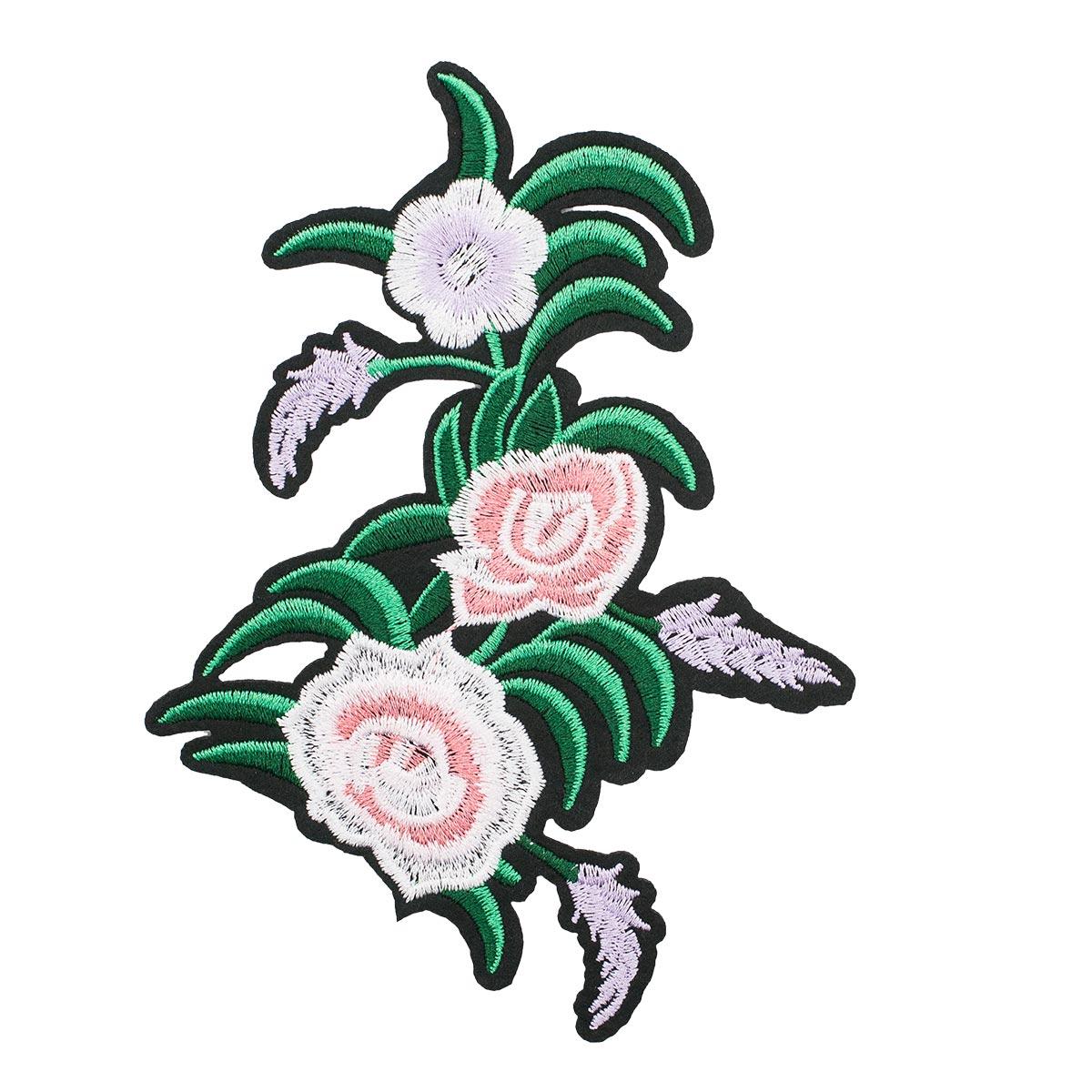 3783597 Термоаппликация цветы 16*11см 5шт/упак