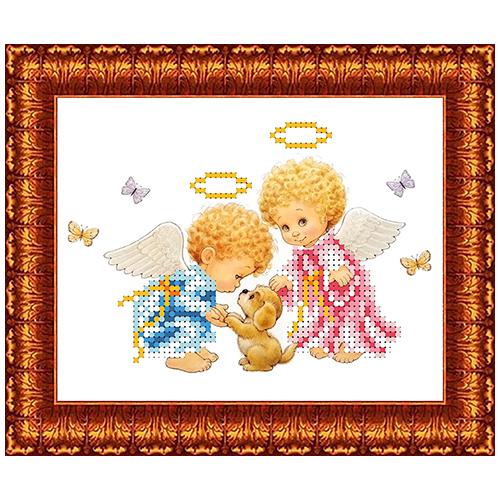 КБА-5018 Канва с рисунком для бисера 'Веселые друзья' А5