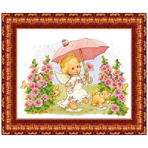КБА-5019 Канва с рисунком для бисера 'У природы нет плохой погоды' А5