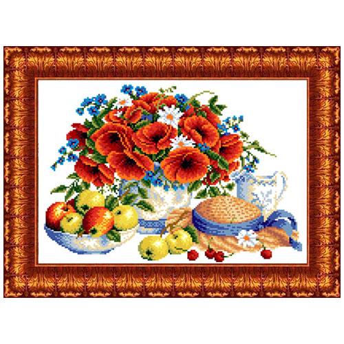 КК 037 Канва с рисунком Каролинка 'Летние дары' 23*30см