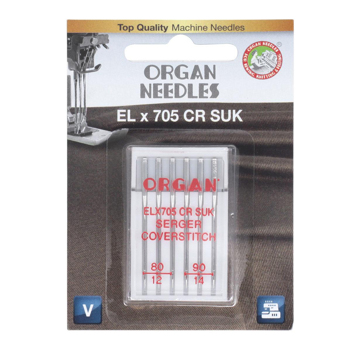 ORGAN иглы EL*705 CR SUK 6/80-90 Blister