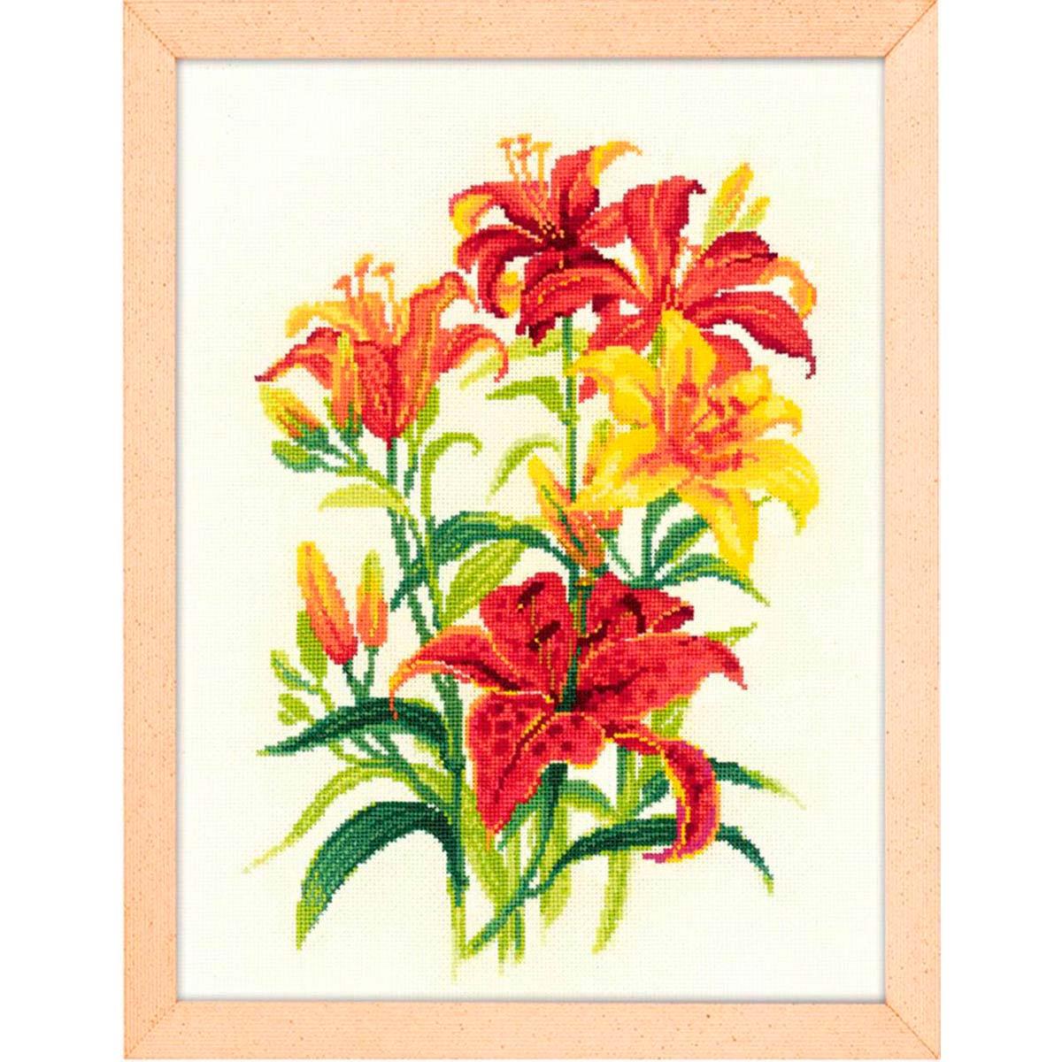 1782 Набор для вышивания Риолис 'Солнечные лилии' 25*33см фото