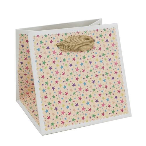 2478284 Пакет для цветов 'Звёзды', розовый, 10 х 10 х 10 см