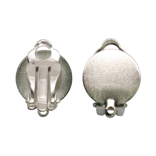 1353639 (СМ-309-28) Основа под серьги-клипсы, 17 мм упак/5 пар, серебро
