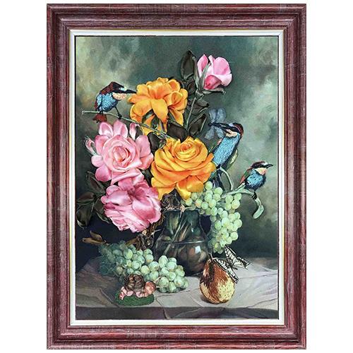 КЛ(н)-3010 Набор для вышивания лентами 'Цветочный нектар' 26,5х34см