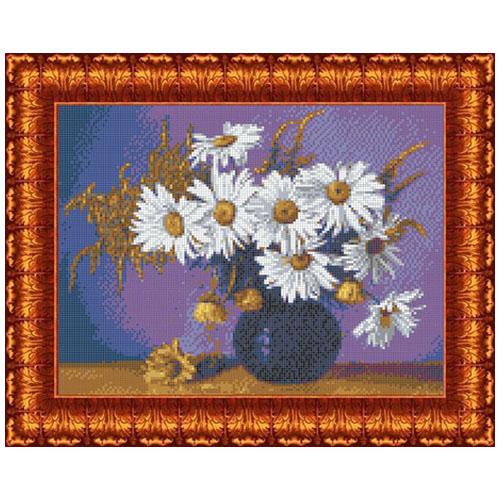 КК 0041 Канва с рисунком Каролинка 'Натюрморт с ромашками' 23х30см