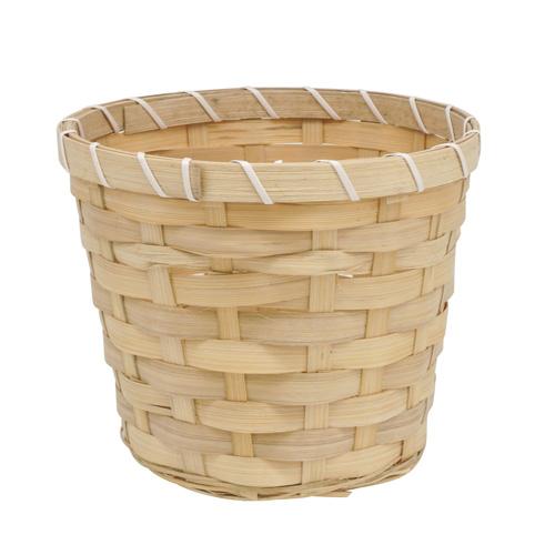 66928 Кашпо из бамбука круглое 18*15см натуральный B18-6