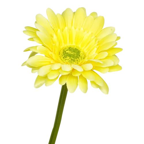 1662245 Цветы искусственные 'Гербера Искра' 9*50 см жёлтая