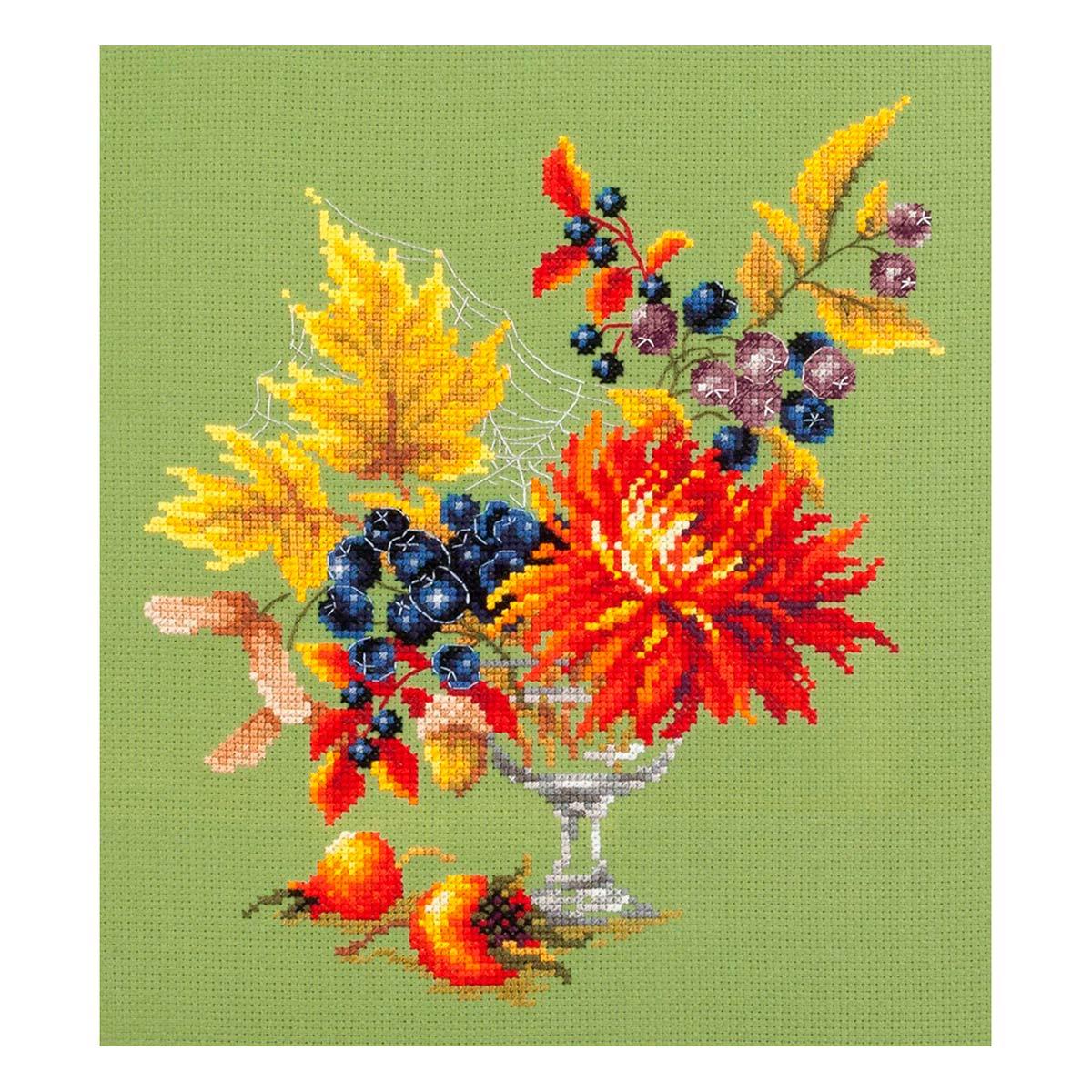 100-005 Набор для вышивания Чудесная игла 'Осенний букетик' 20 х 23см