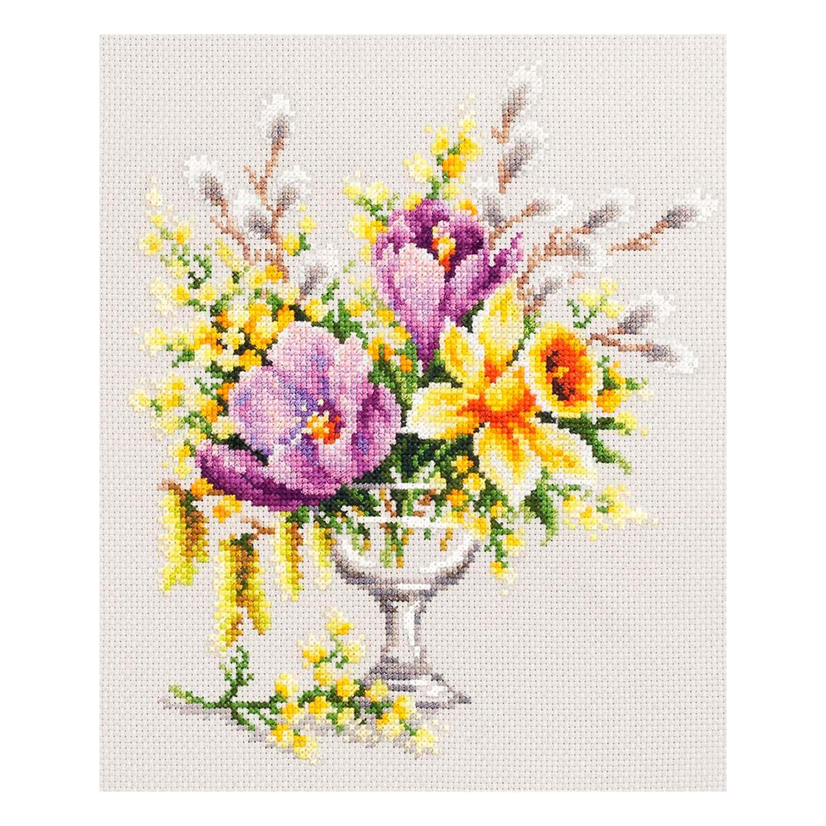 100-002 Набор для вышивания Чудесная игла 'Весенний букетик' 20 х 23см