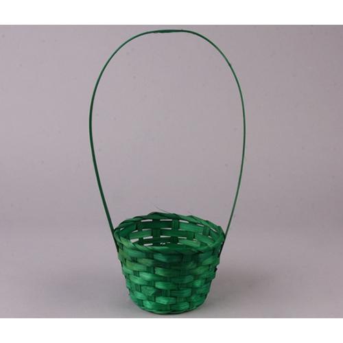 66936 Корзина плетеная бамбук d13xh9см зеленый B07-3