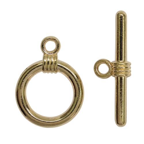 1353614 (СМ-208-7) Застежка-тогл, 11*15 мм 1, цвет золото упак/5шт