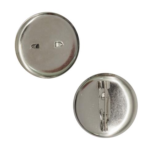 1353645 (СМ-367) Булавка для броши с круглым основанием 25 мм цвет серебро, упак/ 5шт
