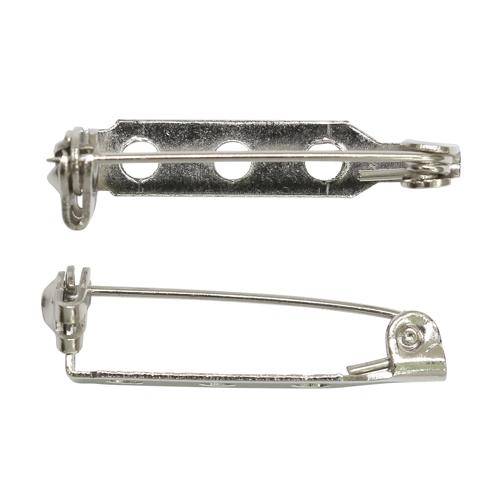 1375818 Основа для броши серебряный 3 отв 2,5см упак/10шт
