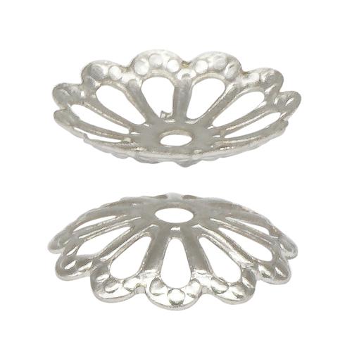 1514811 (СМ-008) Шапочки для бусин, цвет серебро, упак/100шт