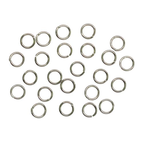 1515018 (СМ-973) Кольцо соединительное 0,6*5мм (набор 50 гр, ±950шт), цвет серебро
