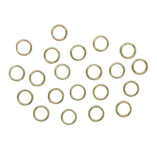 1515031(СМ-1025) Кольцо соединительное двойное 0,6 мм (набор 50 гр, ±510 шт) , цвет золото