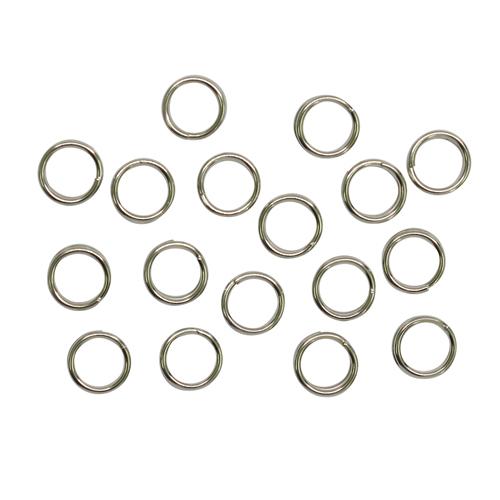 1515032 (СМ-1025) Кольцо соединительное двойное 0,6мм (набор 50 гр, ±510 шт), цвет серебро