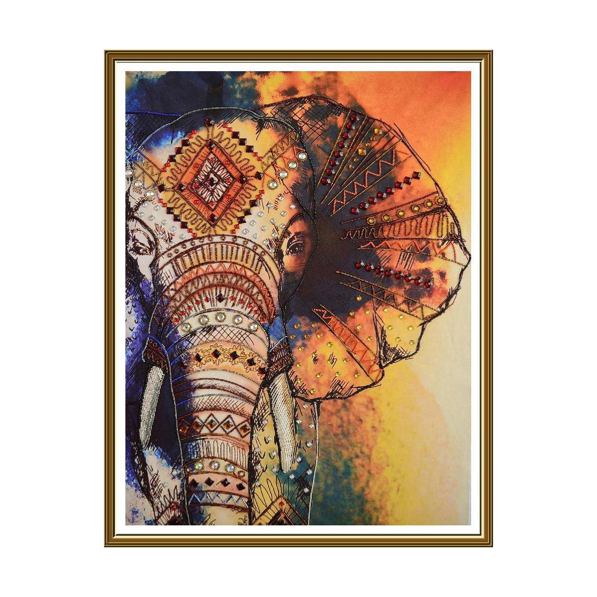 ДК1201 Набор для вышивания бисером 'Слон'48 x 67см