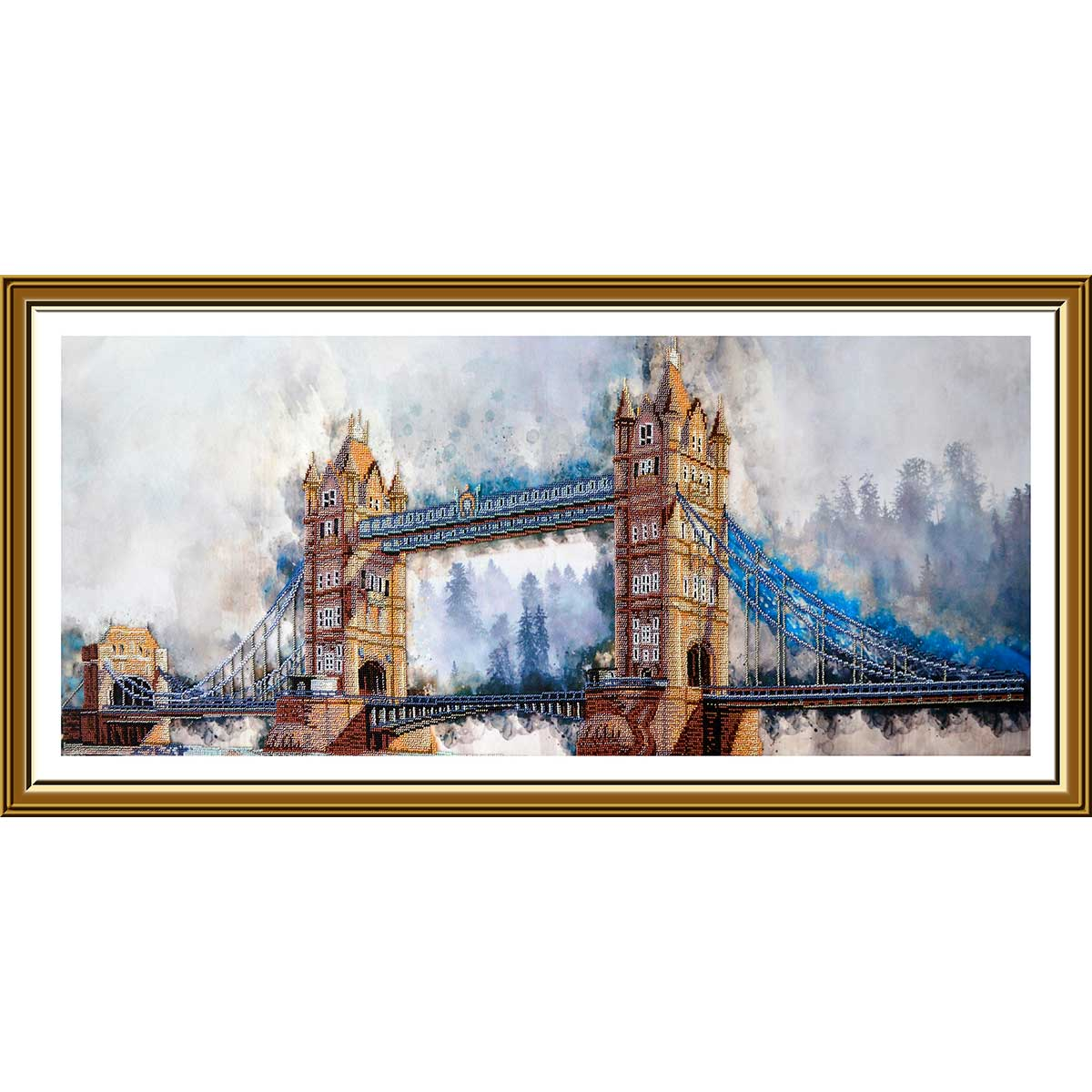 НД1501 Набор для вышивания бисером 'Легендарный лондонский мост'100 x 38см фото