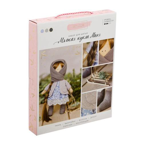 3299323 Интерьерная кукла «Маня», набор для шитья, 18,9*22,5*2,5 см