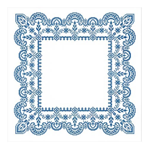 ККСН 001 Набор салфетка для вышивки крестом «Зимняя сказка» 45*45см