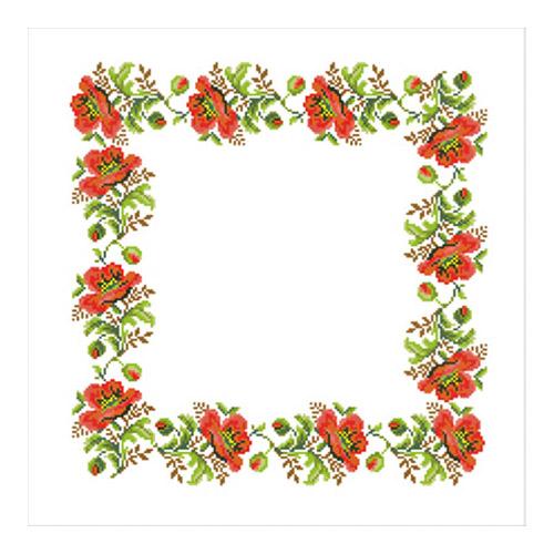 ККСН 002 Набор салфетка для вышивки крестом « Маковая дорожка» 45*45см