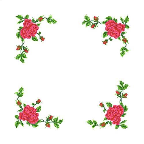 ККСН 004 Набор салфетка для вышивки крестом «Розы» 45*45см