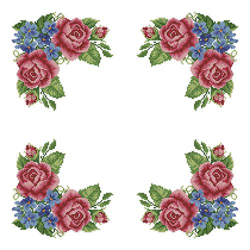 ККСН 012 Набор салфетка для вышивки крестом « Нежный шелест» 45*45см