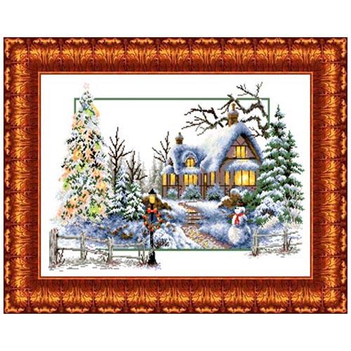 Кткн 121 Набор для вышивания Каролинка 'Зимняя сказка'32x47 см