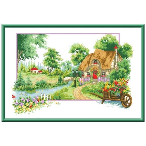 Кткн 124 Набор для вышивания Каролинка 'Летний аромат'30х47 см