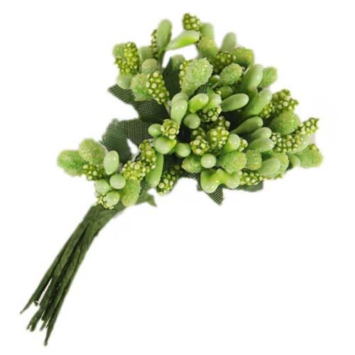 67482 Тычинки для искуственных цветов 12шт. салатовые