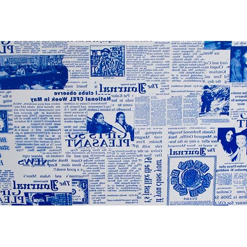 55707 Пленка цветная Газета NEW 70см*7,8м синий