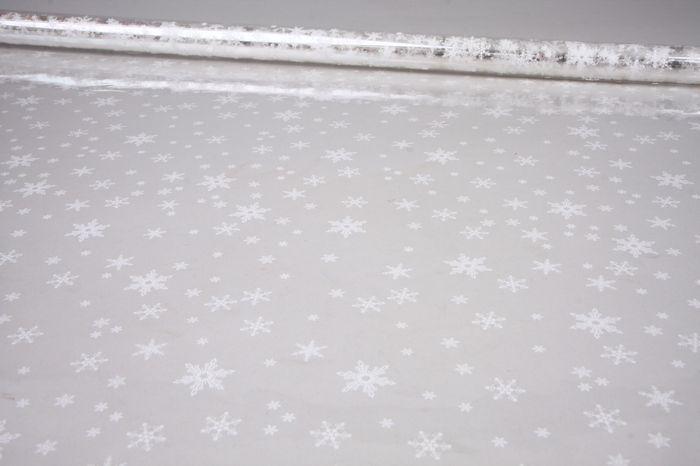 6049593 Пленка цветная Снежинки NEW 70см*7,8м белый