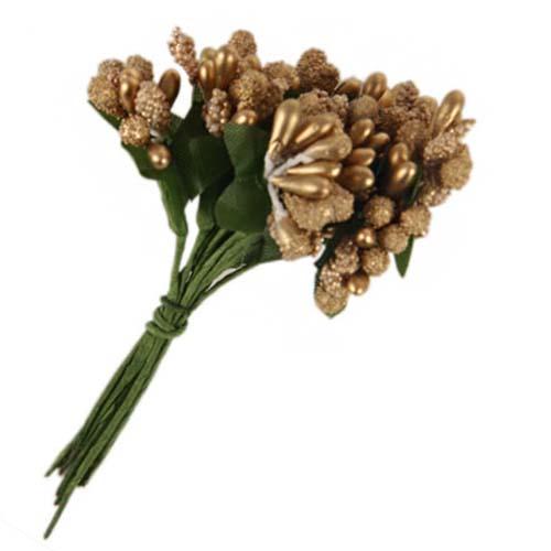 67455 Тычинки для искусственных цветов 12шт. золото