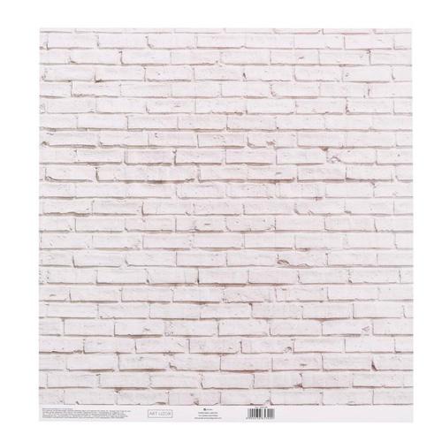 3665300 Бумага для скрапбукинга с клеевым слоем «Кирпич», 30,5*32 см, 250 г/м