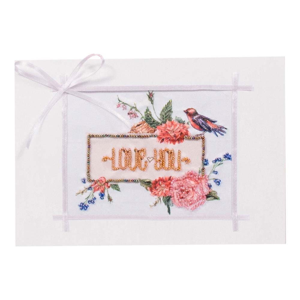 8306 Набор для создания открытки Матренин Посад ' Люблю тебя' 12х17см фото